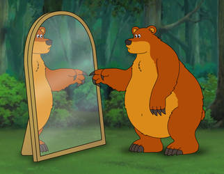 Bear in the Mirror by napalmhonour