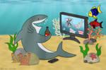 Watching Shark Week by napalmhonour