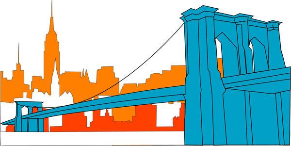 brooklyn bridge vector by cwilwol on deviantart rh deviantart com Brooklyn Bridge Drawing Brooklyn Bridge Coloring Page