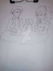 An unlikely dinner : First date  (sketch)