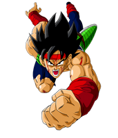 Bardock attackin Freezer battle damaged by orco05