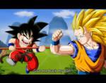 Kid Goku vs. Goku SSJ3
