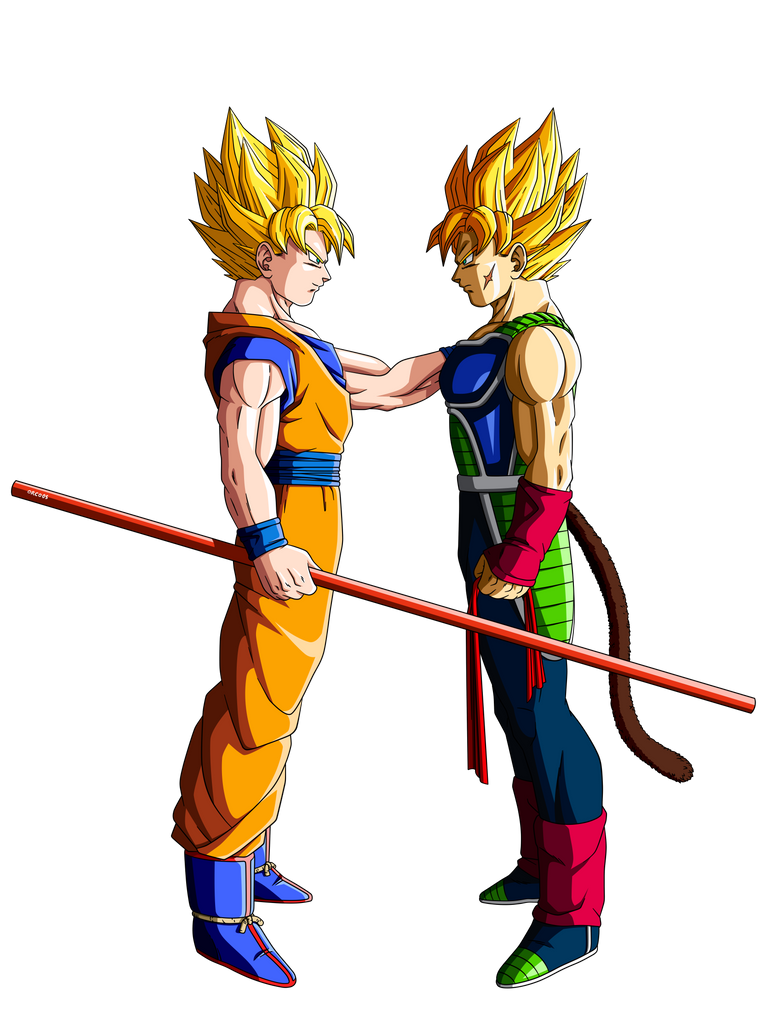 Son Goku and Bardock by orco05 on DeviantArt