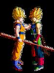 Son Goku and Bardock