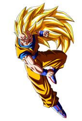 Son Goku ssj3 vs Majin Buu v.2 by orco05
