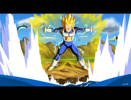 Vegeta's Final Flash by orco05