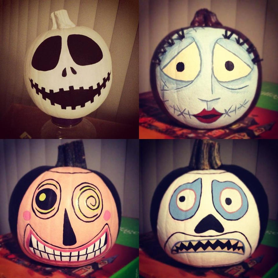 The Nightmare Before Christmas on Pumpkins by essiemichelle on ... Nightmare Before Christmas Pumpkin Patch Drawing