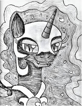 The Moon Queen Sketch by SuperHyperSonic2000