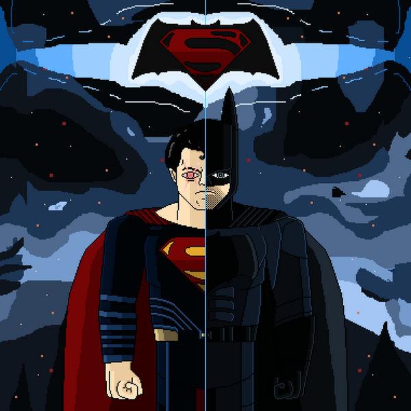 Batman Vs Superman Birthday Request Pixel Art By
