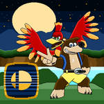Banjo Kazooie are Raring to Go! (pixel art) by SuperHyperSonic2000