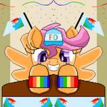 Scootaloo Fangirling (pixel art)
