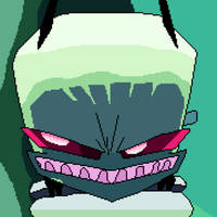 Invader Zim MEANWHILE IN A TOILET (pixel art)