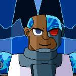 Cyborg (pixel art) by SuperHyperSonic2000