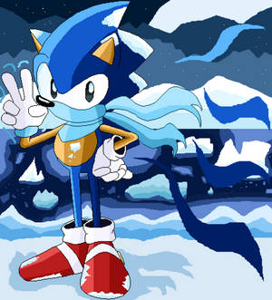 Sonic Arctic Night (pixel art)