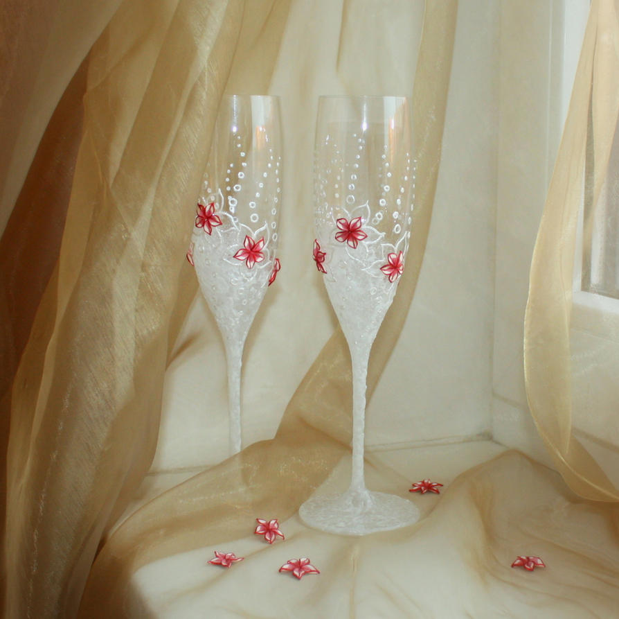 Wedding glasses wedding glasses Wedding glasses by OlliTea