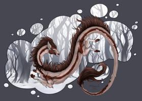 Winter dragon. - 2018 by Polunoch