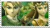 Green Team Stamp: Link + Zelda by Arcticwaters