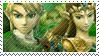 Green Team Stamp: Link + Zelda by Arcticwaters