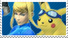 Blue Team Stamp: ZSS + Pikachu by Arcticwaters
