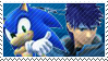 Blue Team Stamp: Ike + Sonic by Arcticwaters