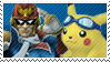Ble Team Stamp: C.F + Pikachu by Arcticwaters