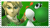 Green Team Stamp: Link + Yoshi by Arcticwaters