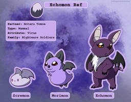 Echomon - Digimon of Saturn by Arcticwaters