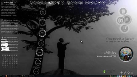 slender man (circles) (current desktop theme) by fulllfrontal