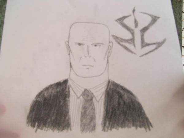 Agent 47 and Hitman-logo by EgonEagle