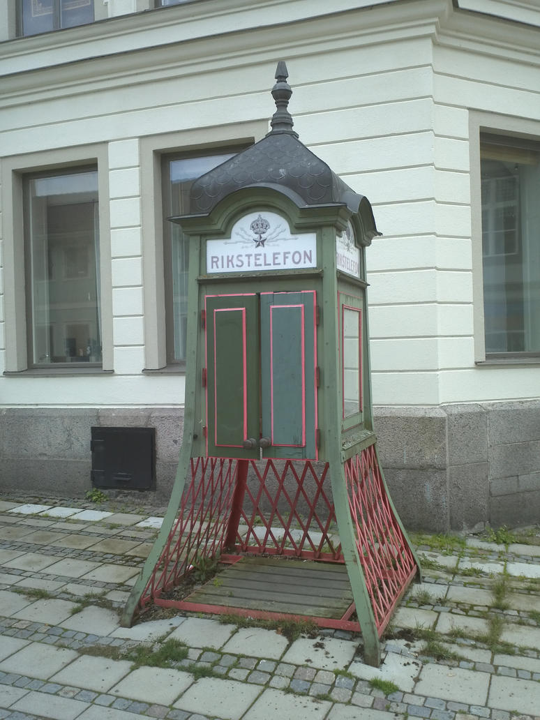Old Swedish phone booth by EgonEagle