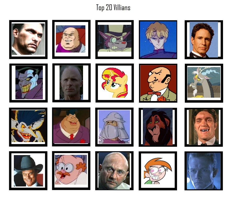 Top 20 Villains by EgonEagle