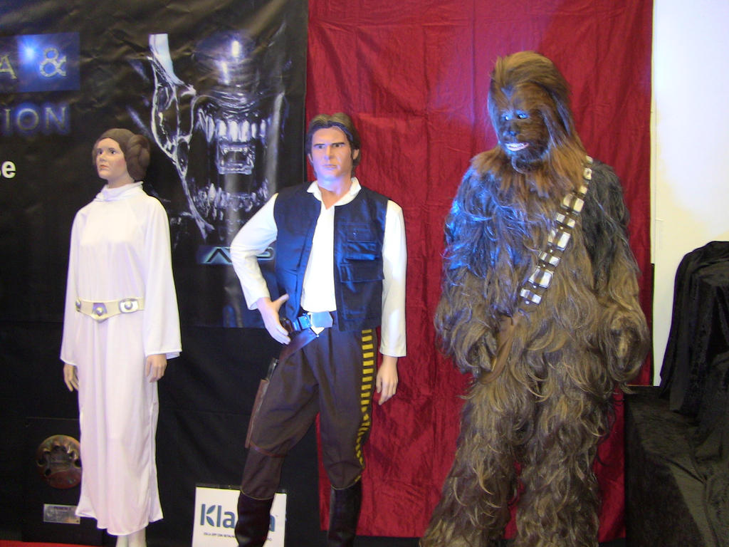 Leia, Han Solo and Chewbacca by EgonEagle