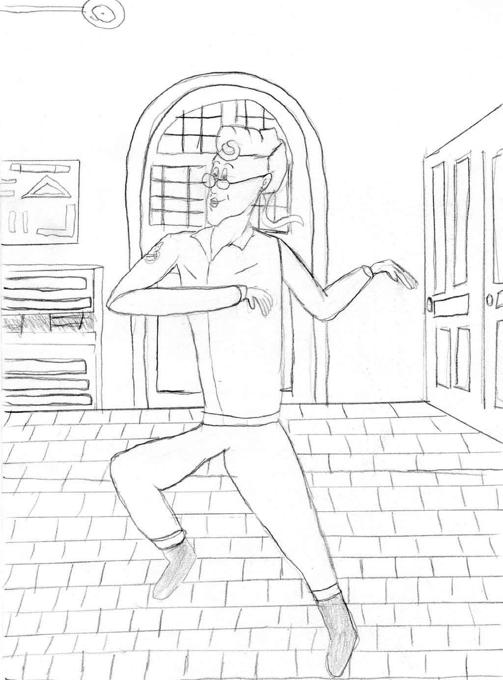 Egon dancing by EgonEagle