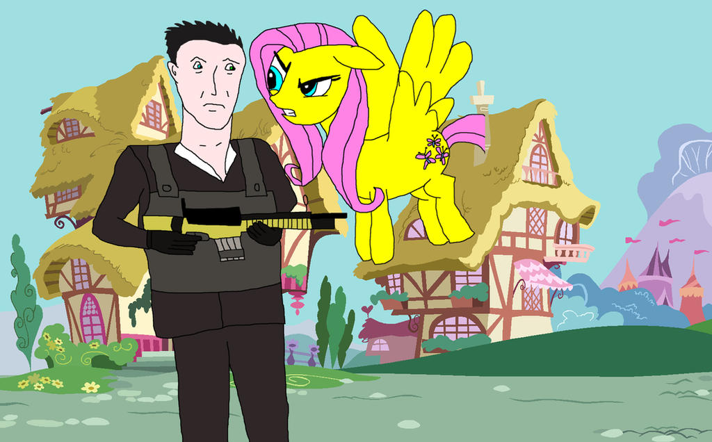 Makarov and Fluttershy by EgonEagle