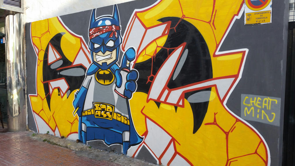 Batman graffiti by EgonEagle