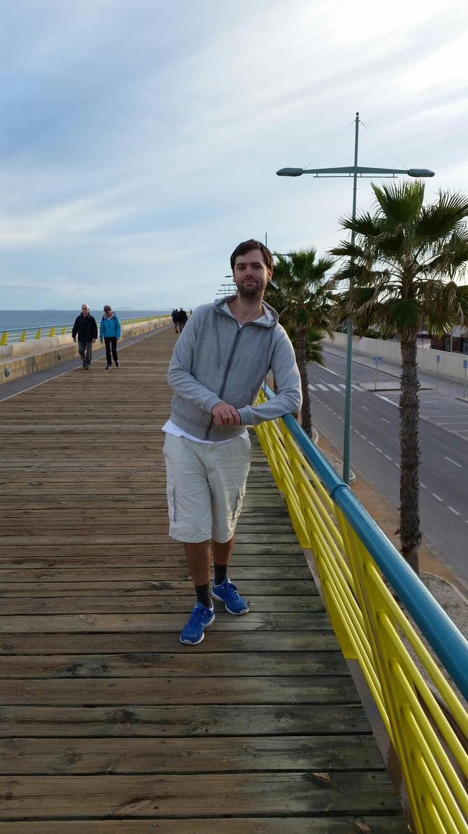 Me at a pier by EgonEagle