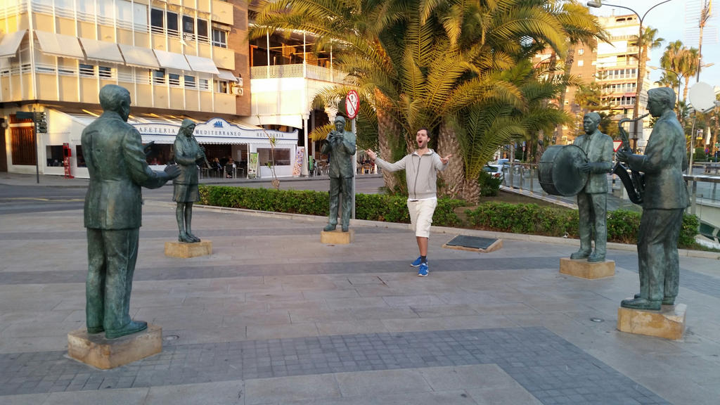 Me and musician statues by EgonEagle