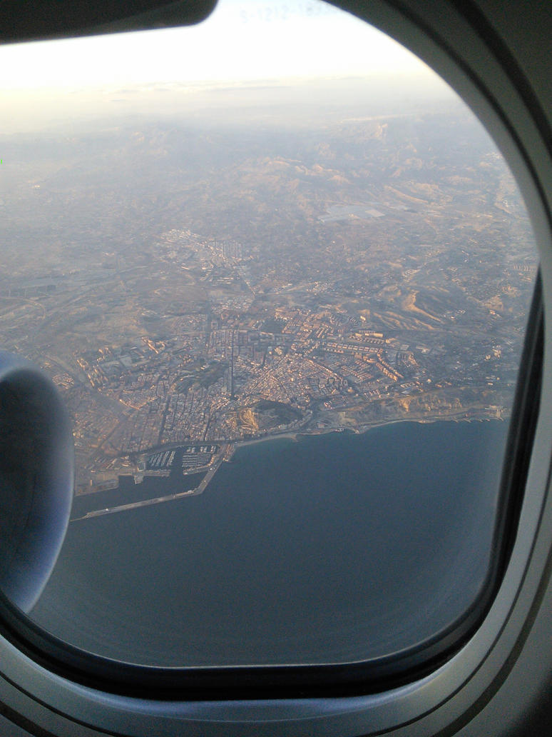 Alicante from the sky by EgonEagle