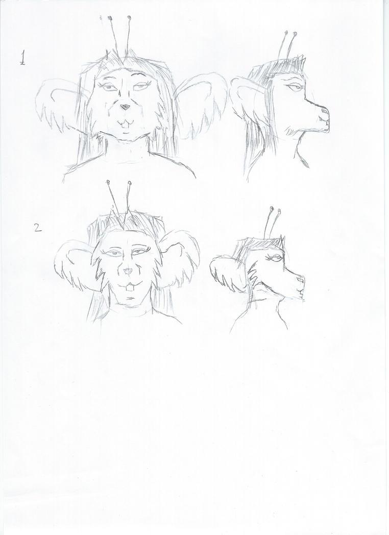 Mousy alternae head model by EgonEagle