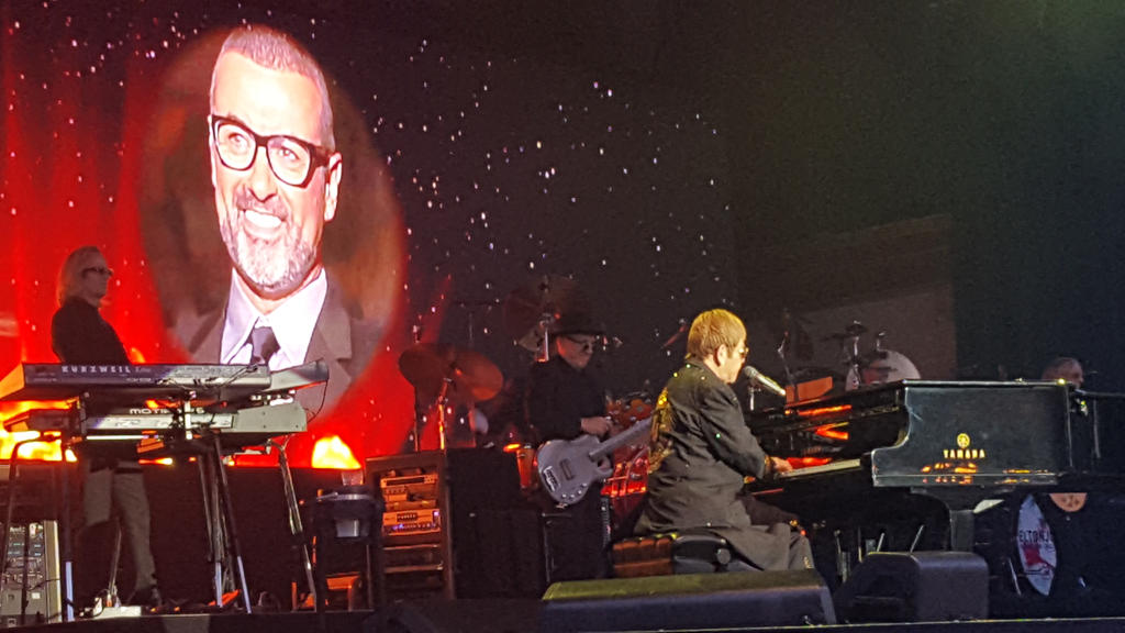 Elton John's tribute to George Michael 2017 by EgonEagle