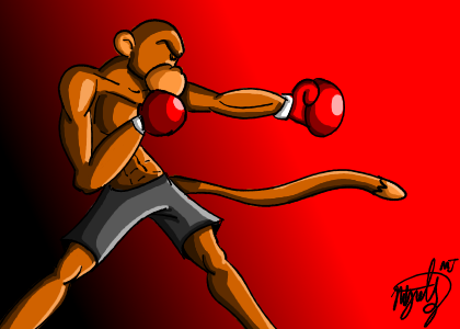 Monkey in the ring by Mike-J