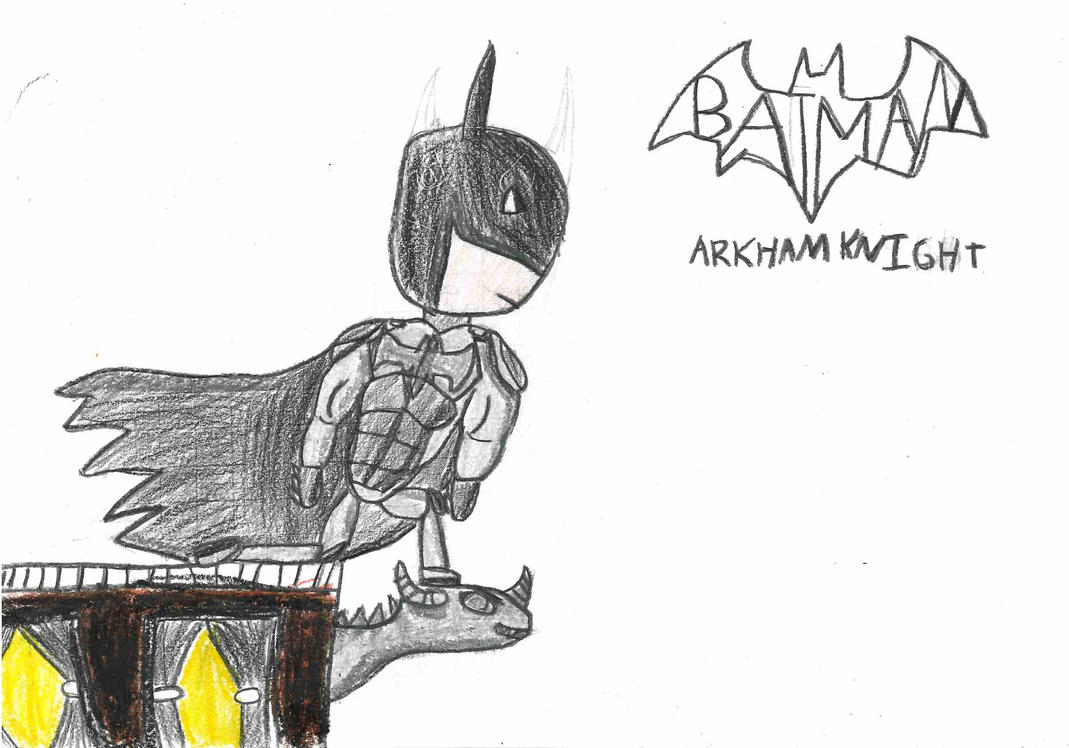 Batman Arkham Knight Drawing by AlolanBatman