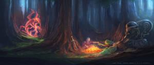 Chrono Trigger 'Campfire' Redesign by gavinli