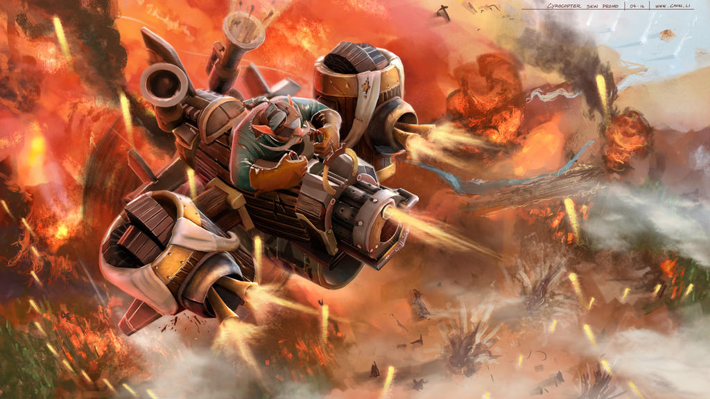 gyrocopter build guide dota 2 gyrocopter the flying artillery