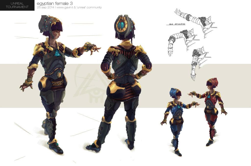 Unreal Tournament Egyptian Female Concept by gavinli