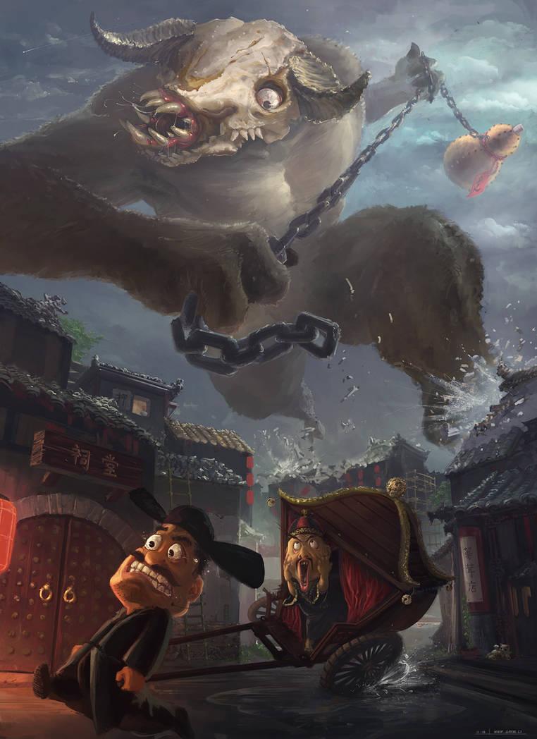 Emperor Minotaur Escape by gavinli
