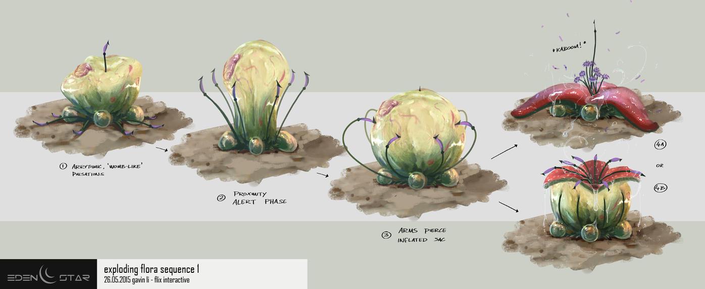 Eden Star Environment Prop - Exploding Flora by gavinli