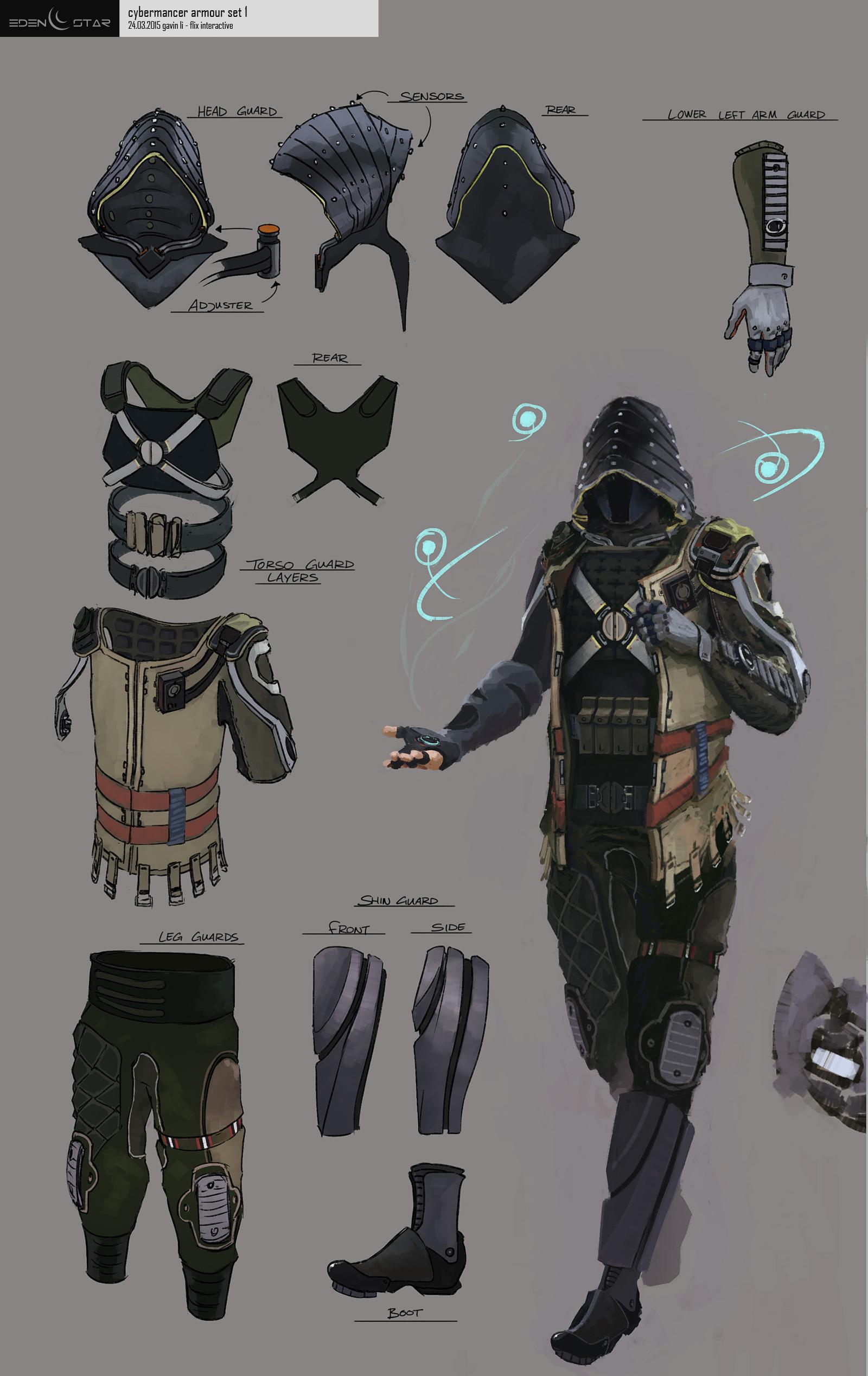 Eden Star Character - Cybermancer Concept by gavinli