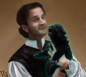 Daddy Gabriel/Loki and Puppy Fenrir by Daksgirl
