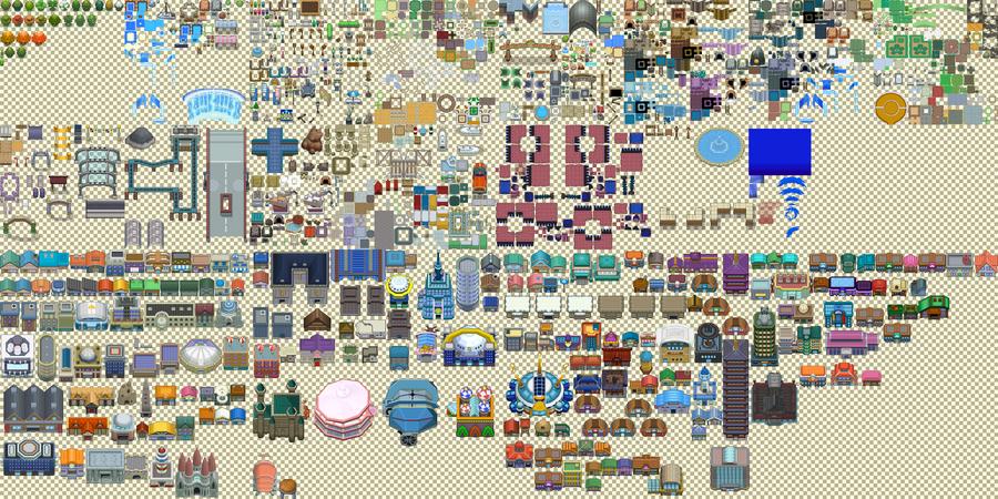 Pokemon DPPtHGSS Tileset by Lightbulb15